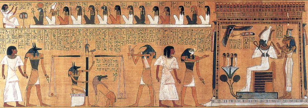 Le papyrus d'Hunefer 2/3<br>les outils et l'action