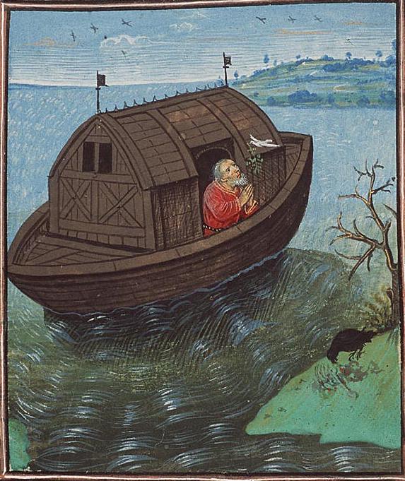 Noe corbeau et colombe